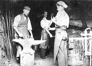 William at his forge.