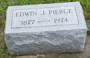 """Edwin John Pierce """"Rest in Piece"""""""
